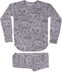 Soft Gallery Elliot Pyjamas Soft Gallery Elliot Pyjamas grey drizzle owl aop