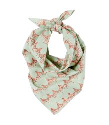 Polder Girl Mael Scarf April Showers by Polder Mael Scarf Dentelle Aqua with Coral