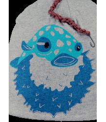 Barts Sharky Beanie Barts Sharky Beanie grey with aqua with fish print