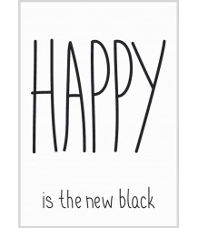 Happy - Poster MiniWilla Happy is the new Black - Poster