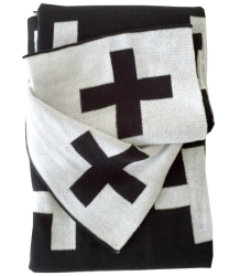 Modern Burlap Grote 2-zijdige Deken CROSS Modern Burlap Sweater Blanket CROSS