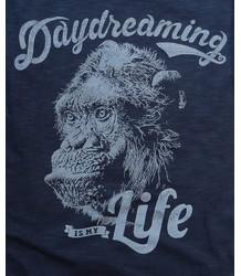 Lion of Leisure T-shirt LS Monkey Lion of Leisure T-shirt LS Monkey indigo melange blue