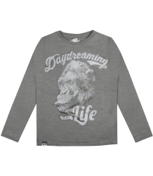 Lion of Leisure T-shirt LS Monkey Lion of Leisure T-shirt LS Monkey grey