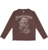 Lion of Leisure T-shirt LS Monkey Lion of Leisure T-shirt LS Monkey Taupe