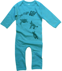 Lion of Leisure Baby One-Piece Suit Turtles Lion of Leisure Baby One-Piece Suit Turtles Aqua