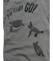 Lion of Leisure Baby One-Piece Suit Turtles Lion of Leisure Baby One-Piece Suit Turtles Steel Grey
