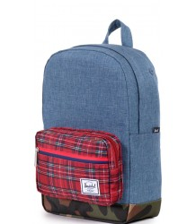Herschel Pop Quiz Kids Herschel Pop Quiz Kids Navy Crosshatch   red plaid and camo