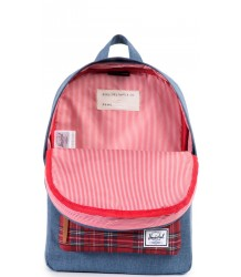 Herschel Heritage Kid Herschel Heritage Kid navy crosshatch   red plaid