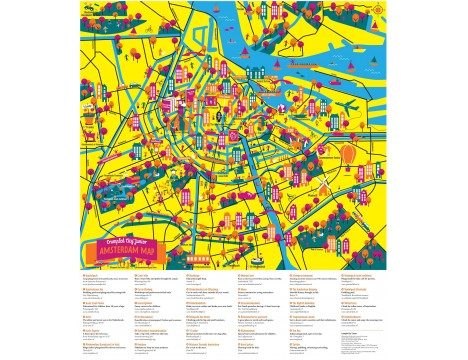 Crumpled City™ Amsterdam Map - Junior