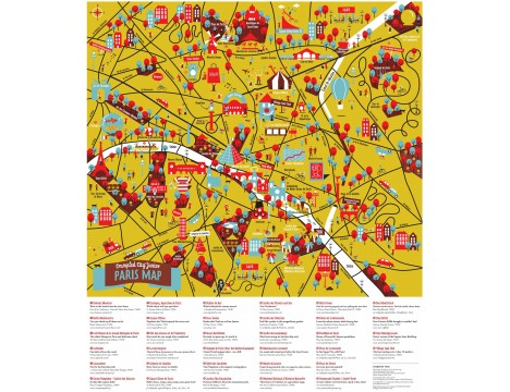 Crumpled City™ Paris Map - Junior