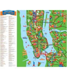 New York Map - Junior Crumpled City - New York Map - Junior