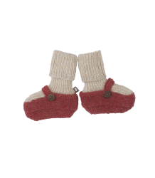 Oeuf NYC MARY JANE Booties Oeuf NYC Sock Booties red Beige