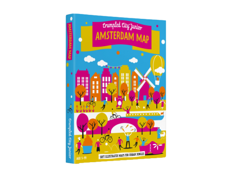 Crumpled City™ Amsterdam Map - Family Pack