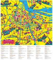 Amsterdam Map - Family Pack Crumpled City - Amsterdam City Map - Family Pack