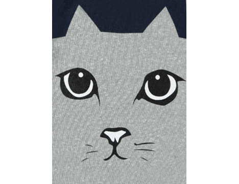 Simple Kids Cat T-shirt LS