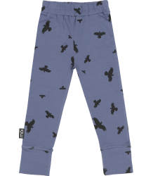 Mói Leggings Moi Leggings Night blue Raven print