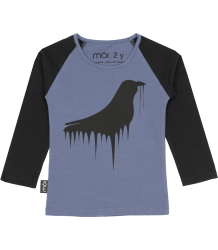 Mói Long T-shirt Moi Long T-shirt Night blue melting bird