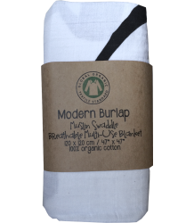 Modern Burlap Muslin Swaddle AMAZING GRACE Modern Burlap Muslin Swaddle Amazing Grace