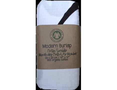 Modern Burlap Muslin Swaddle AMAZING GRACE