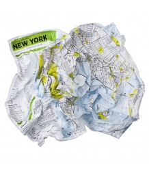 New York Map - Family Pack Crumpled City - NewYork Map - Family Pack