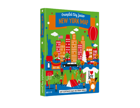 Crumpled City™ New York Map - Family Pack