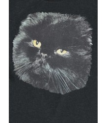 Popupshop Night Dress BLACK CAT Popupshop Night Dress black cat