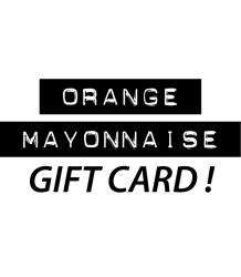 Orange Mayonnaise Cadeaubon Orange Mayonnaise, Gift card