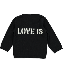 Zadig & Voltaire Kids Cardi Balou Zadig & Voltaire Kid Cardi Balou Black LOVE IS