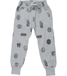 Soft Gallery Jules Pants AOP Soft Gallery Jules Pants grey AOP badges