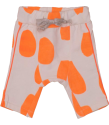 Noé & Zoë Baby Harem Fleece Pants Noe & Zoe Baby Harem Fleece Pants Orange Drops