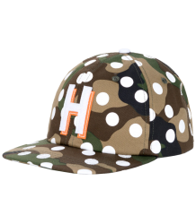 Herschel Outfield Cap Youth Herschel Outfield Cap Youth Woodland Camo white Polka dot