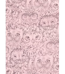 Soft Gallery Bedcover Aop OWL Pink Soft Gallery Bedcover soft pink