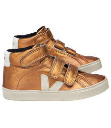 VEJA Esplar Mid Leather COPPER Veja Esplar Mid Velcro Leather COPPER WHITE PIERRE PIERRE