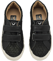 VEJA Esplar Small Leather TILAPIA Veja Esplar Mid Velcro Leather Tilapia Black Pierre leather