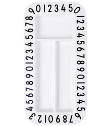 Design Letters Melamine Rectangular Snackplate Design Letters Melamine Rectangular Snackplate