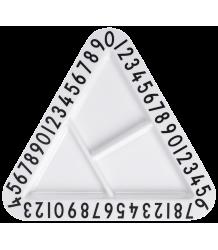 Design Letters Melamine Triangular Snackplate Melamine Triangular Snackplate