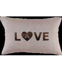 Atsuyo et Akiko Love Letter Cushion Shell Atsuyo et Akiko Love Letter Cushion coconut and gold foil