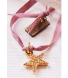 Atsuyo et Akiko Star Ribbon Necklace Atsuyo et Akiko Star Ribbon Necklace rose