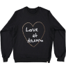 Atsuyo et Akiko Fleece Raglan Pullover Atsuyo et Akiko Fleece Raglan Pullover black Love et Dream