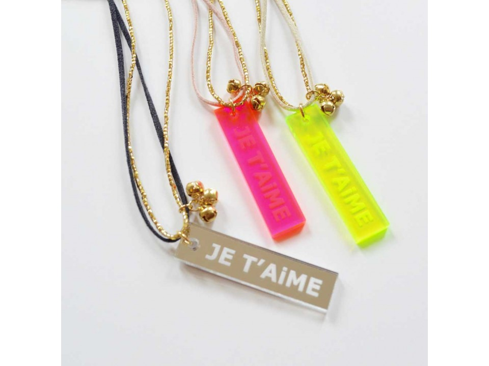 atsuyo et akiko je t aime necklace orange mayonnaise