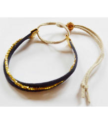 Atsuyo et Akiko Suede Bracelet Atsuyo et Akiko Suede Bracelet gold and navy