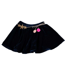 Atsuyo et Akiko Velvet Skirt Atsuyo et Akiko Velvet Skirt navy