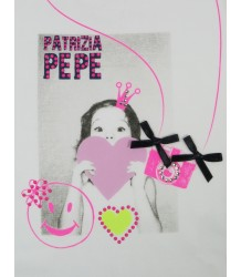 Patrizia Pepe Girls T-shirt Heart Baby - OUTLET Patrizia Pepe Baby T-shirt Heart