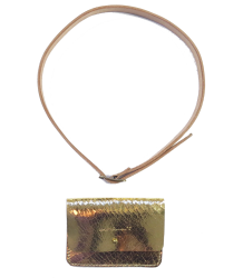 Polder Girl Small Belt with Pouch April Showers by Polder Small Belt with Pouch gold
