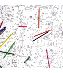 Makii Giant Colouring Picture - Jungle Makii Turbo Grote Kleurplaat - Jungle
