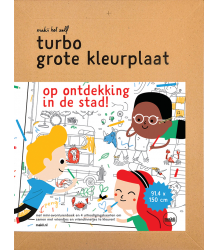 Makii Giant Colouring Picture - City Makii Turbo Grote Kleurplaat - Stad