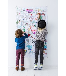 Makii Giant Colouring Picture - City Makii Turbo Grote Kleurplaat - City