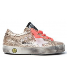 Golden Goose Superstar GLITTER Golden Goose Superstar gold Glitter pink lace
