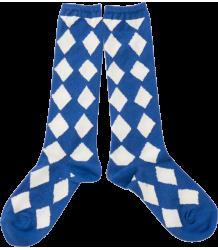 Bobo Choses Long Socks DIAMONDS Bobo Choses Korte socks DIAMONDS blue