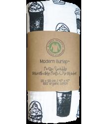 Modern Burlap Muslin Swaddle COFFEE LOVE Modern Burlap Muslin Swaddle KOFFIE
